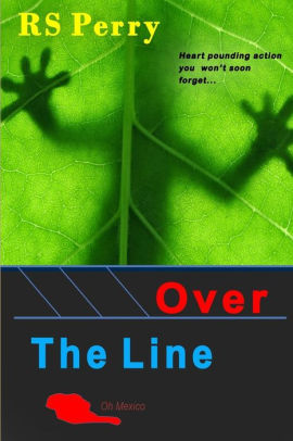 Front cover Over The Line Jim Johnson Novel with gecko