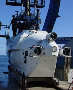Author RS Perry and Alvin deep submersible Pacific Ocean