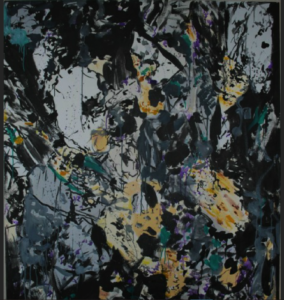 Black Spaghetti painting
